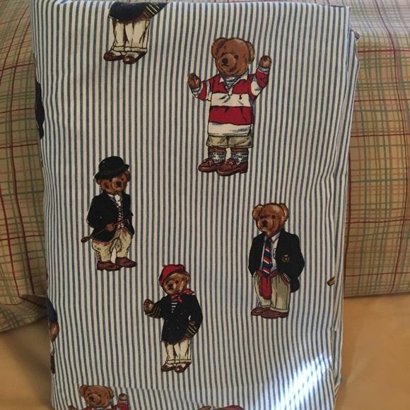 Vintage Lauren Ralph Polo Full Sheet Bear Set Ybg6yvIf7m